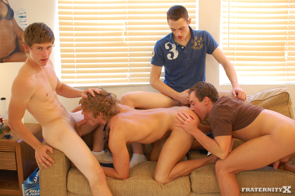 Fraternity X Angelo and Shawn and Jansen and Morgan Big Cock Fraternity Boys Barebacking 08 Big Cock Straight Fraternity Brothers Raw Gang Bang a Freshman