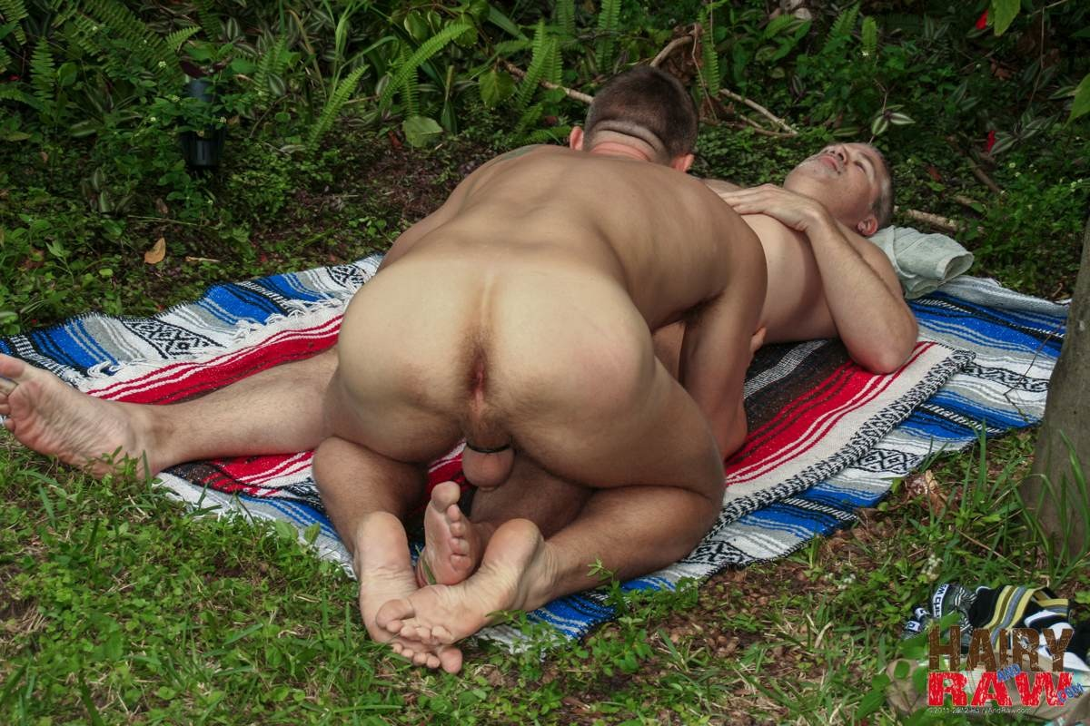 Hairy-and-Raw-Christian-Matthews-and-Alex-Powers-Hairy-Daddy-Bears-Barebacking-Outside-Amateur-Gay-Porn-13 Amateur Hairy Daddy Barebacks His Younger Friend In the Backyard