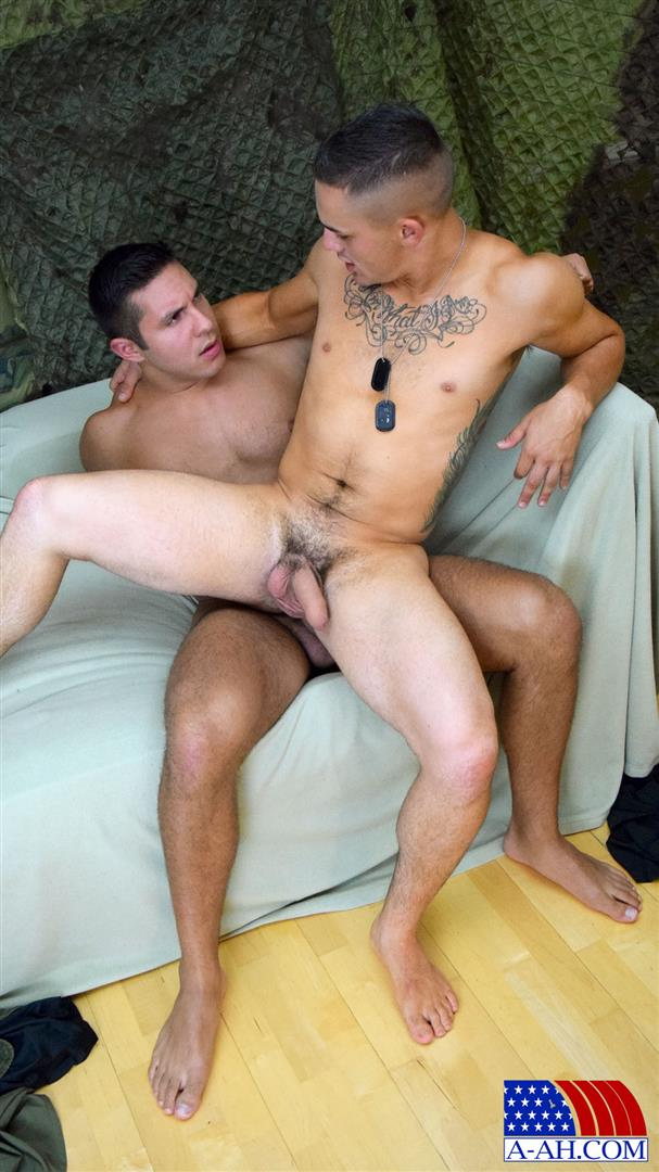 All American Heroes Seth and Roque Army Private Barebacking a Marine Amateur Gay Porn 09 Army Private Barebacks A Marine Corporal With His Big Uncut Cock