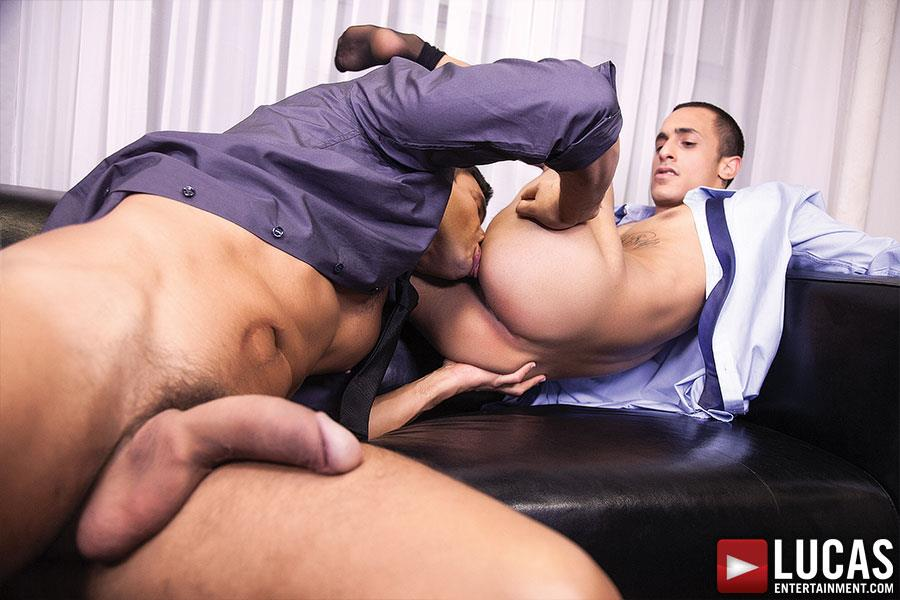 Lucas Entertainment Rafael Carreras and Rico Romero Big Uncut Cock Bareback Amateur Gay Porn 09 Rafael Carreras Barebacking Rico Romero With His Big Uncut Cock
