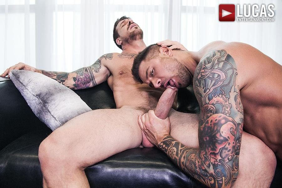 Lucas Entertainment Rocco Steele and Dolf Dietrich Big Cock Barback Muscle Hunks Amateur Gay Porn 05 Rocco Steele Breeding Dolf Dietrich With His Massive Cock