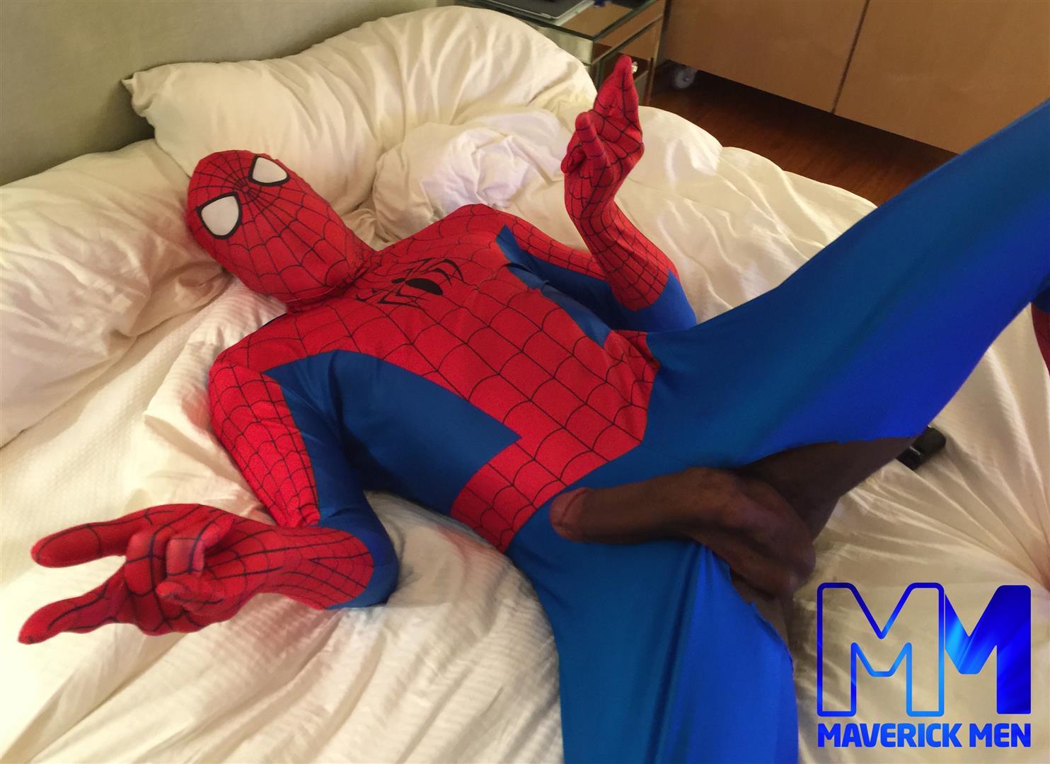Maverick Men Spiderman With A Big Black Dick Bareback Threesome Amateur Gay Porn 01 Happy Halloween... Did You Know That Spiderman Has A Big Black Dick?