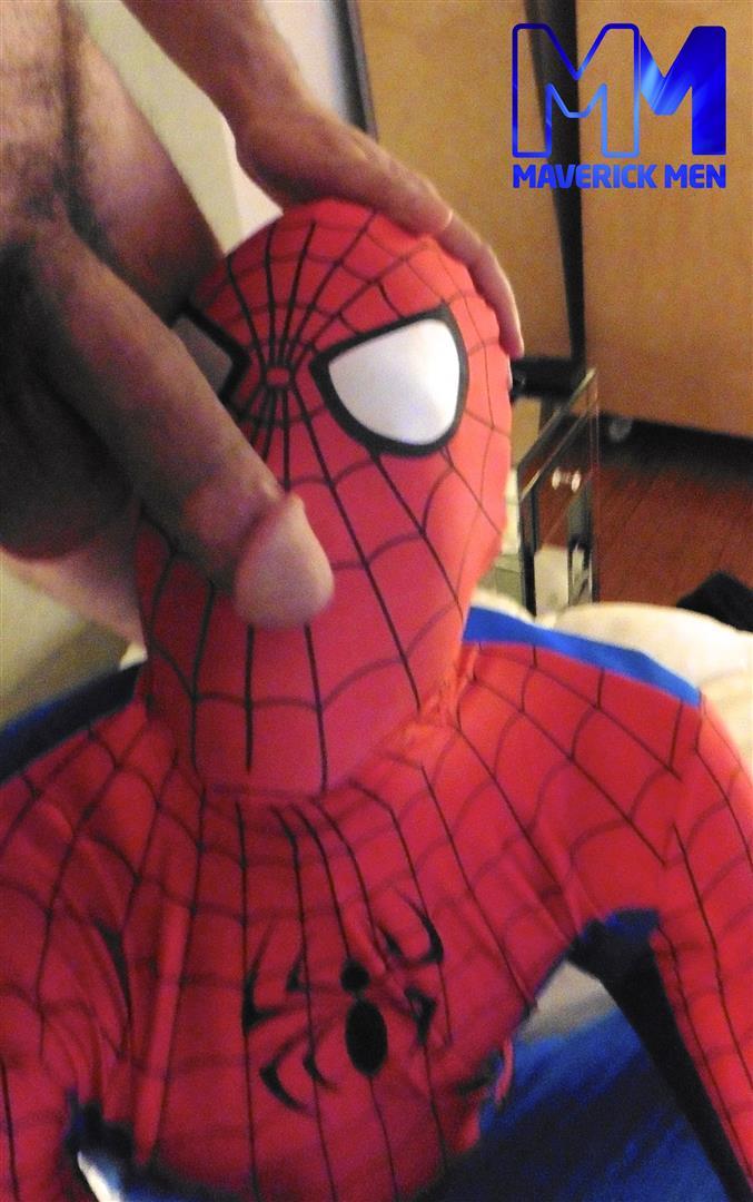 Maverick Men Spiderman With A Big Black Dick Bareback Threesome Amateur Gay Porn 07 Happy Halloween... Did You Know That Spiderman Has A Big Black Dick?