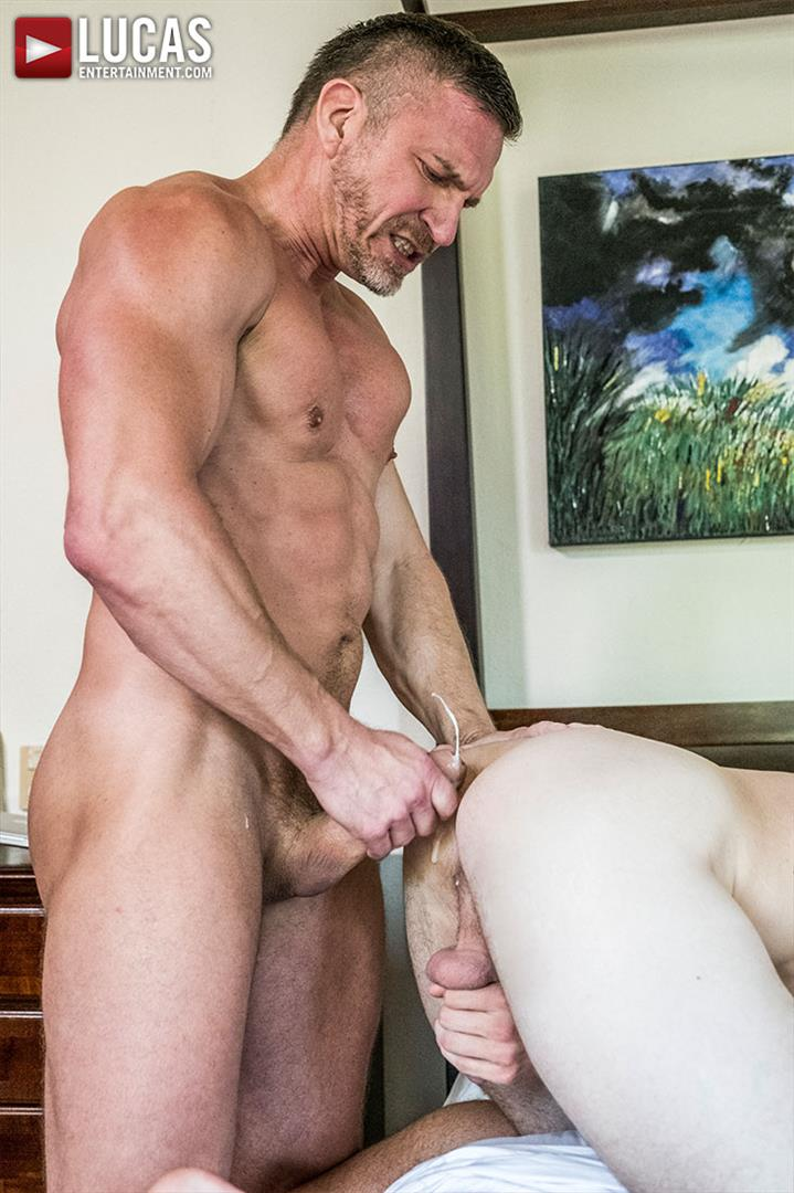 Lucas Entertainment Shawn Reeve and Tomas Brand Bareback Daddy Sex 14 Bareback Riding A Thick Uncut Daddy Dick