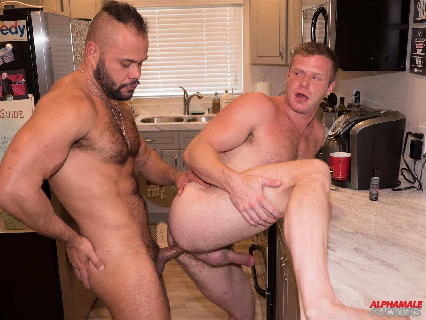 Alpha-Male-Fuckers-Brian-Bonds-and-Damien-Kilauea-Bareback-Gay-Sex-23 Brian Bonds Getting Fucked In His Kitchen By Damien Kilauea