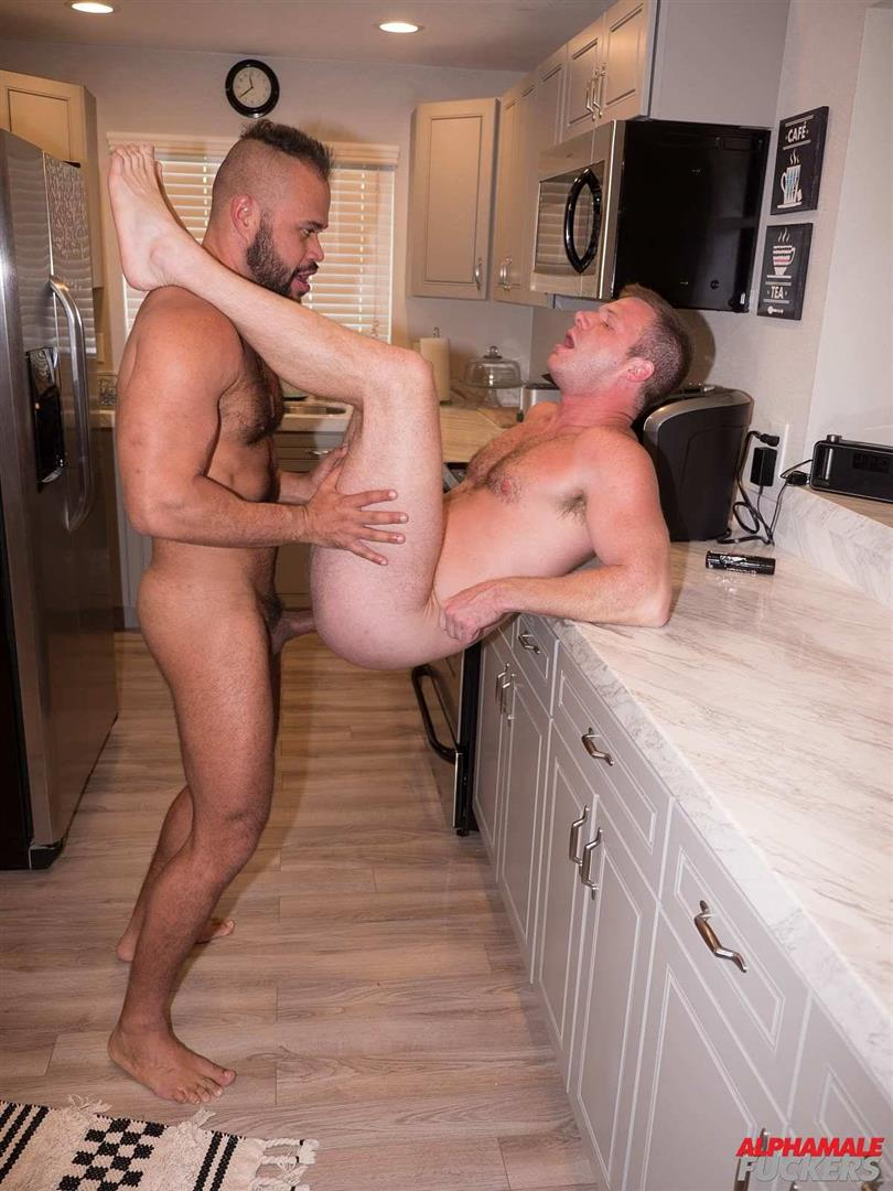 Alpha-Male-Fuckers-Brian-Bonds-and-Damien-Kilauea-Bareback-Gay-Sex-37 Brian Bonds Getting Fucked In His Kitchen By Damien Kilauea