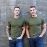 Active-Duty-Quentin-Gainz-and-Spencer-Laval-Military-Guys-Bareback-Sex-Video-01-150x150 Straight Muscular Military Guys First Bareback Fuck Session