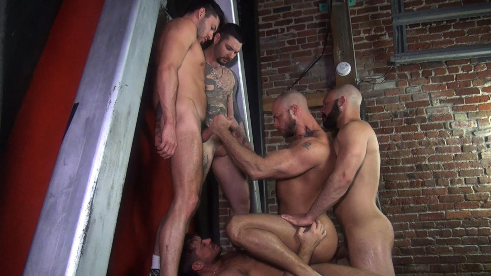 Raw-Fuck-Club-Dylan-Strokes-and-Scott-DeMarco-and-Jack-Andy-and-Jessie-Colter-and-Teddy-Bryce-Bareback-Sex-Video-04 Jessie Colter's First Bareback Gangbang At A Sleazy Bathhouse