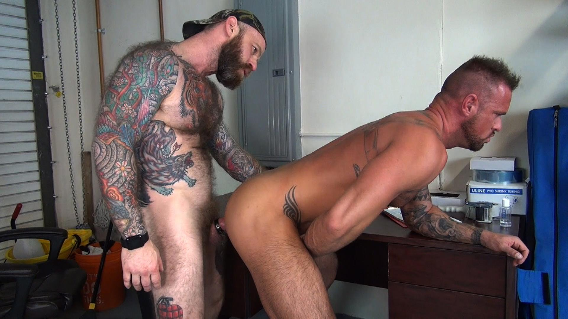 Raw-Fuck-Club-Jack-Dixon-and-Michael-Roman-Hairy-Muscle-Daddy-Bareback-Gay-Sex-Video-08 Taking A Raw Ride On Jack Dixon's Big Fat Daddy Cock