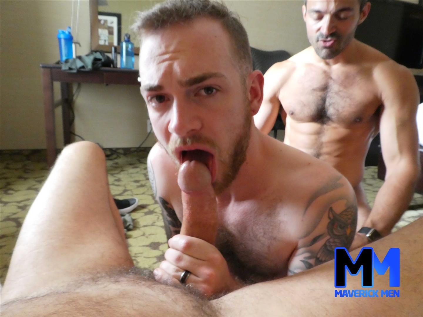 Maverick-Men-Chase-Thick-Dick-Daddies-Bareback-Fucking-Young-Hairy-Guy-4 The Maverick Men Daddies Fill A Hot Young Hairy Ass Full Of Cum