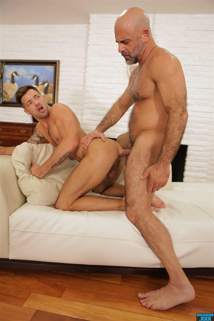 Richard-XXX-Adam-Russo-and-Casey-Everett-Muscle-Daddy-Thick-Dick-Bareback-Video-16 Hairy Muscle Daddy Adam Russo Bareback Fucking Casey Everett
